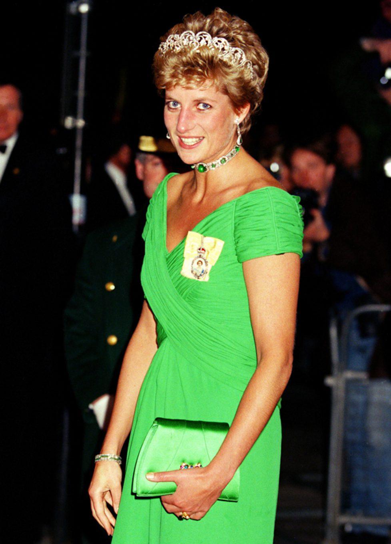 Les tenues vertes de la princesse Diana