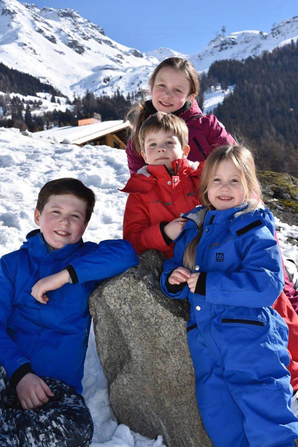 Vacances au ski pour la famille royale de Danemark