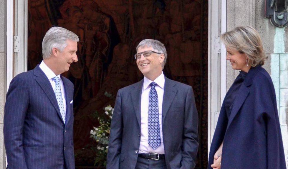 Les souverains belges reçoivent Bill Gates
