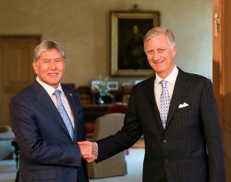 Le roi Philippe reçoit le président du Kirghizistan