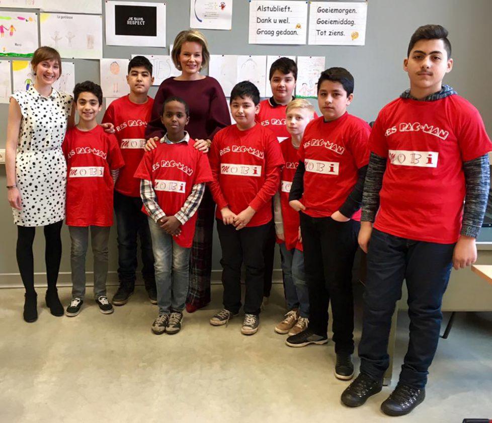 La reine Mathilde en visite dans une école à Gand