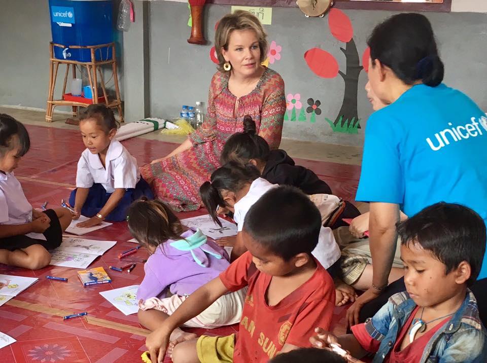 La reine Mathilde au Laos