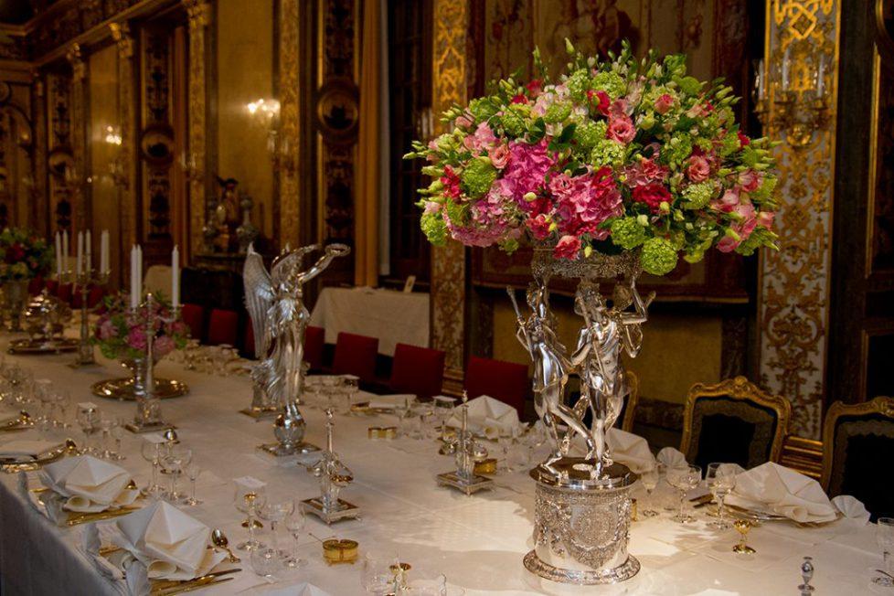Menu du dîner de gala en l'honneur du gouverneur général du Canada