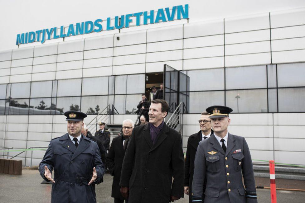 Joachim de Danemark à l'aéroport de Karup