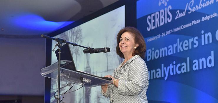 Katherine de Serbie à un symposium sur le diabète