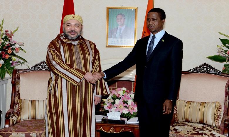 Le roi du Maroc en Zambie