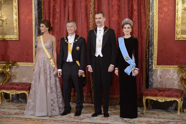 Dîner de gala au Palais royal de Madrid pour le président argentin