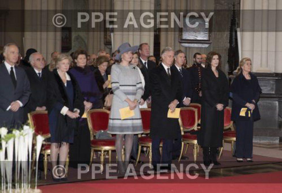 Hommage aux défunts de la famille royale belge