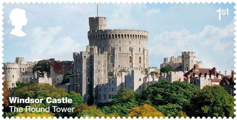 Série de timbres sur le château de Windsor