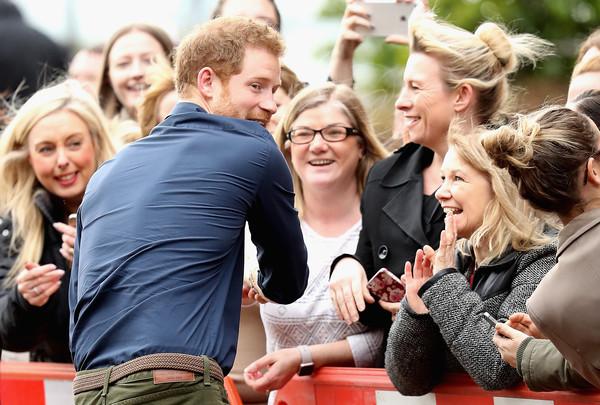 Le prince Harry à Newcastle