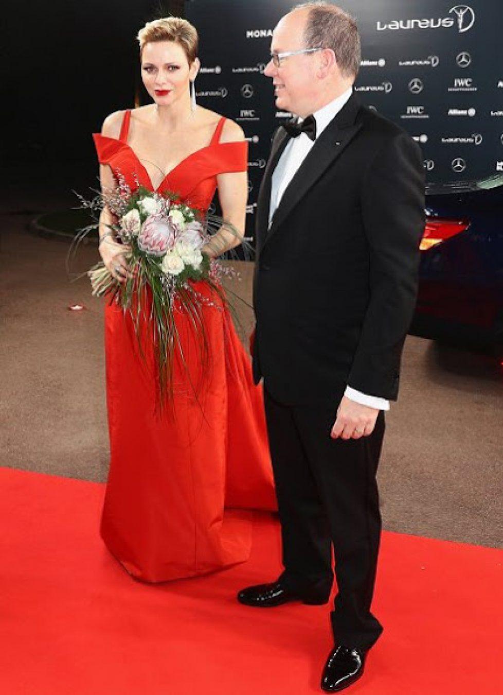 Albert et Charlène de Monaco aux prix Laureus