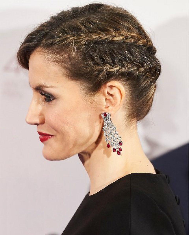 Boucles d'oreilles de rubis et diamants de la reine Letizia