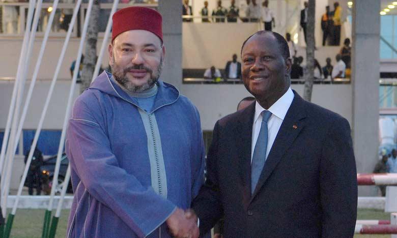 Le roi du Maroc en Côte d'Ivoire