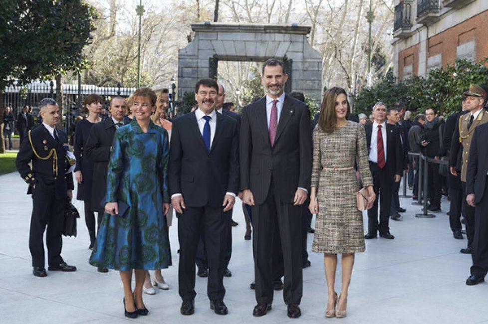 Les souverains espagnols au musée Thyssen