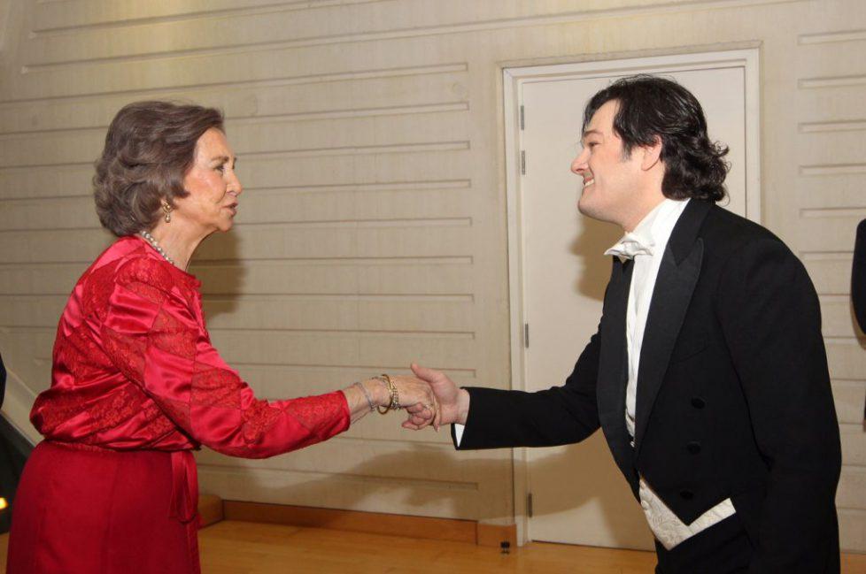 Sophie d'Espagne à la représentation de «La Traviata»
