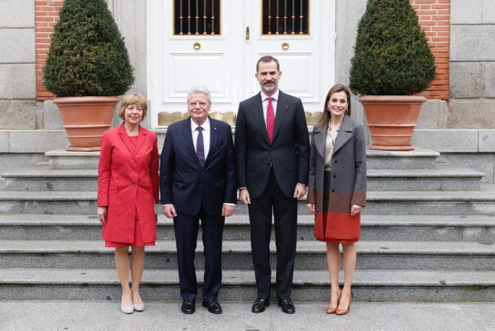 Les souverains espagnols reçoivent le président allemand