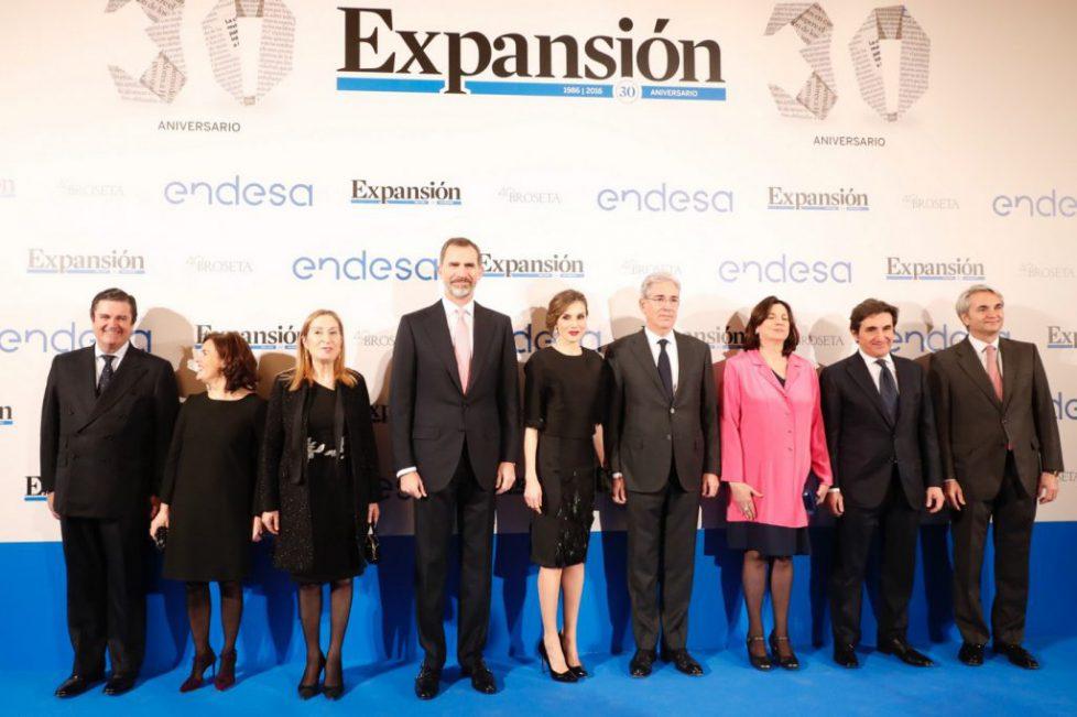 Les souverains espagnols aux 30 ans du journal «Expansion»