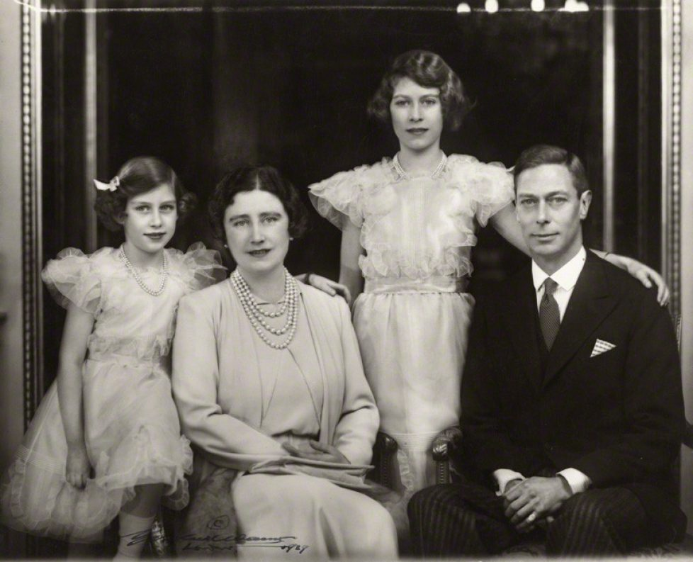 NPG x28913; Princess Margaret; Queen Elizabeth II; Queen Elizabeth, the Queen Mother; King George VI by Marcus Adams