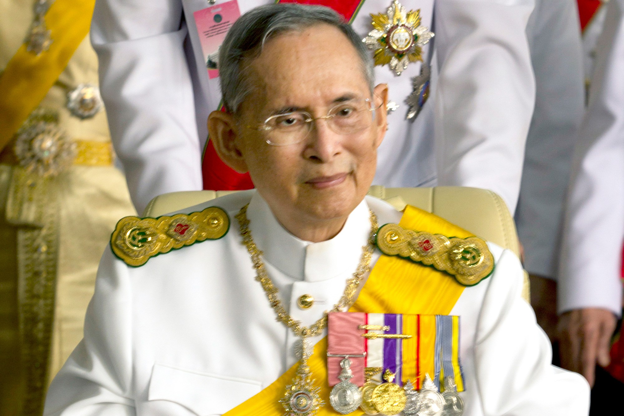 Thailand's king Bhumibol Adulyadej smiles on his birthday
