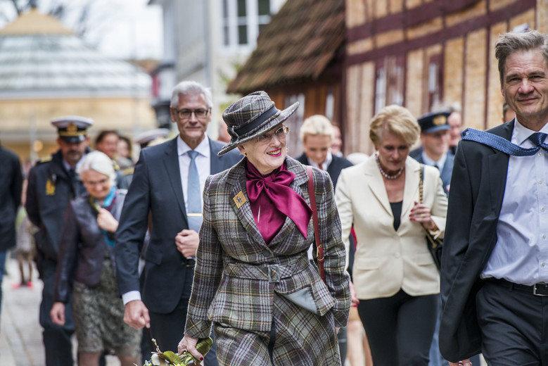 Dronning åbner den store byhistoriske fortælling i Den Gamle By