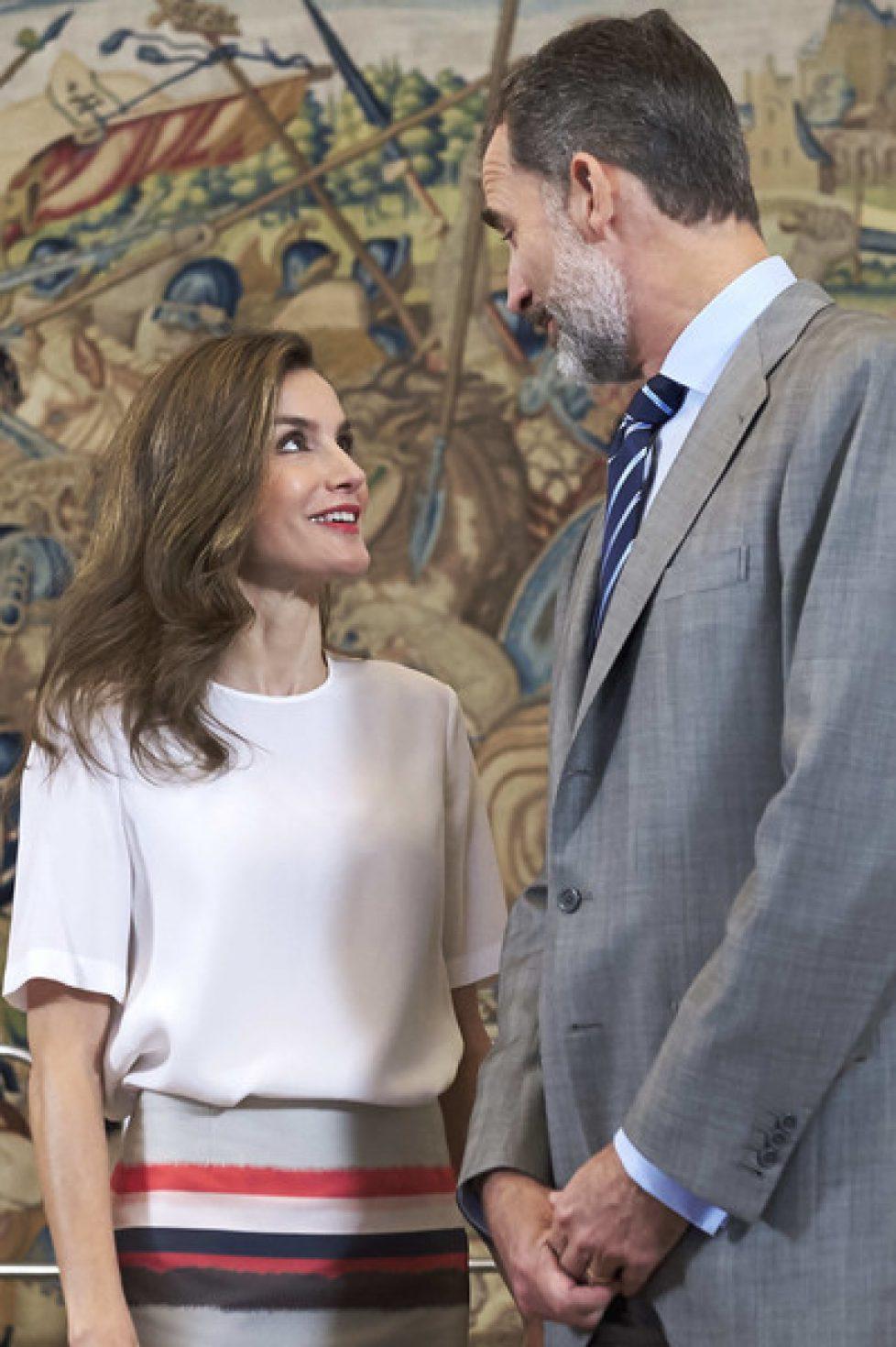 Spanish+Royals+Attend+Audiences+Zarzuela+Palace+r9DWswUyFSbl
