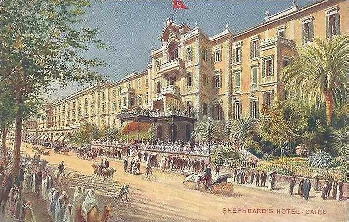 Shepheard'sHotelView-Cairo(colored)around1890