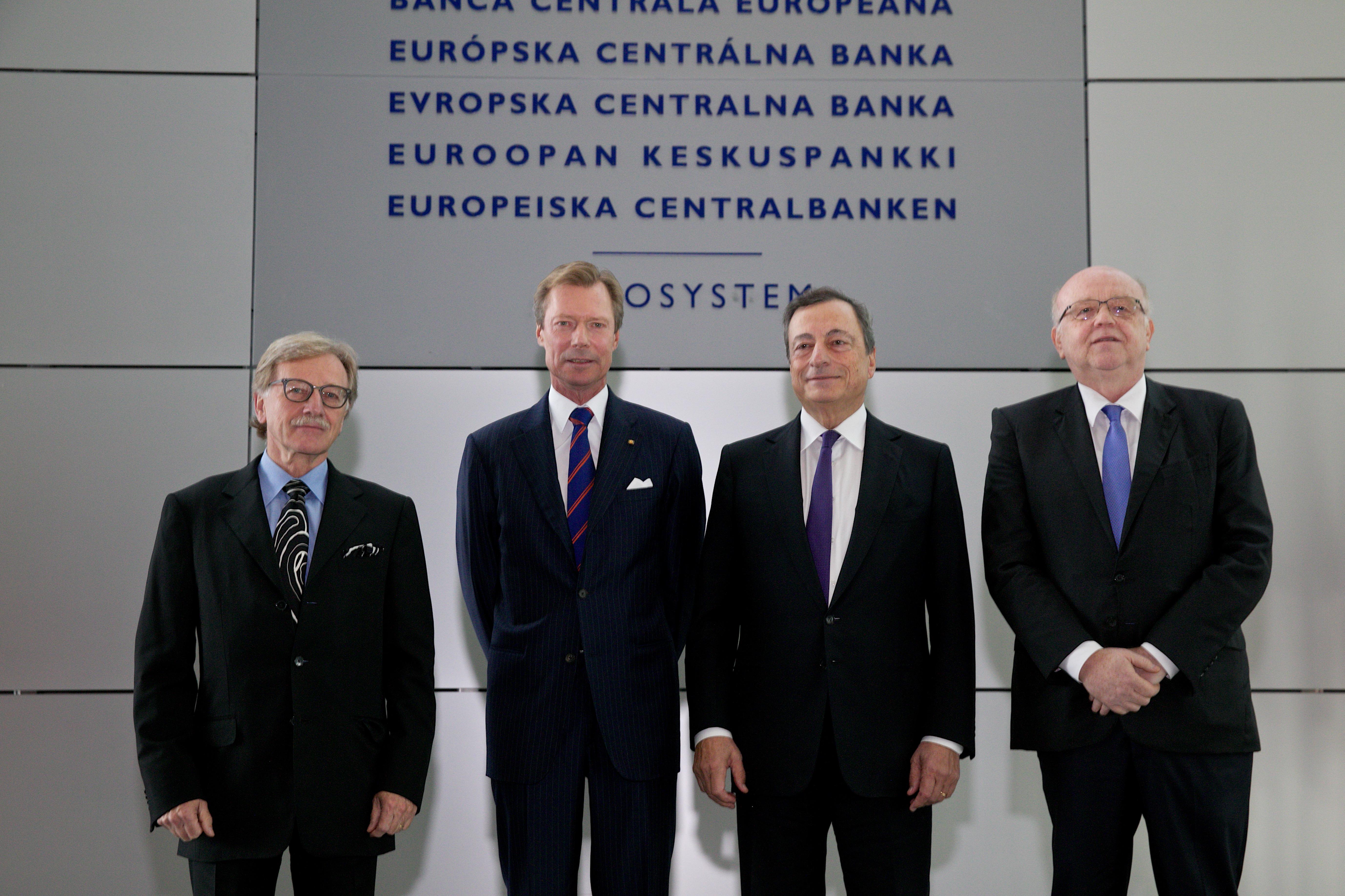 S.A.R. le Grand-Duc Henri visite 19 septembre 2017 la Banque Centrale EuropŽenne