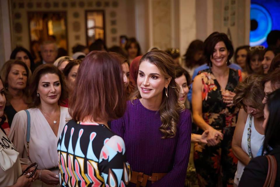 Rania De Jordanie A La Jordan River Foundation Noblesse Royautes
