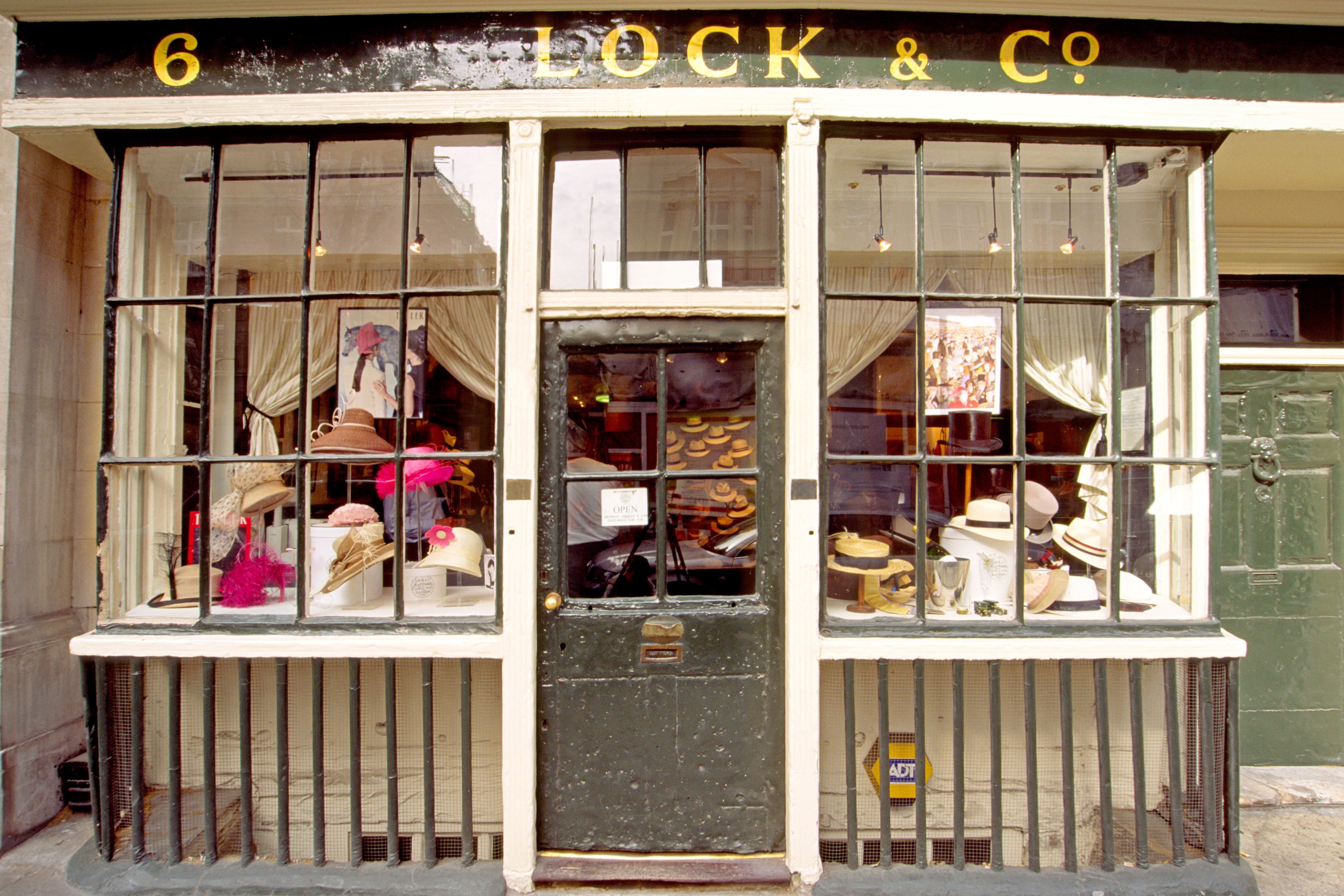 Lock & Co, a Victorian-era hat shop in London.. Image shot 2003. Exact date unknown.