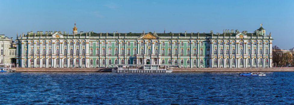 1. la façade du palais d'Hiver sur la Néva