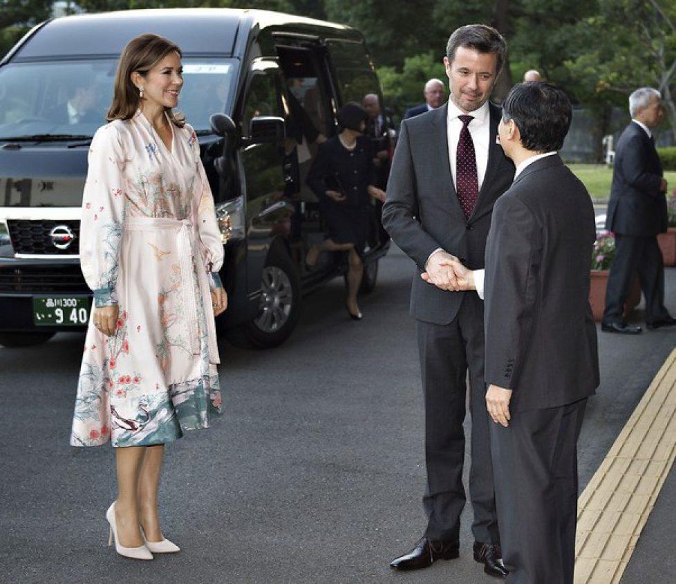 Kronprinsparret besøger Japan - modtagelse i Nationalarkivet af HKH Japans Kronprins Naruhito, Kronprinsparret