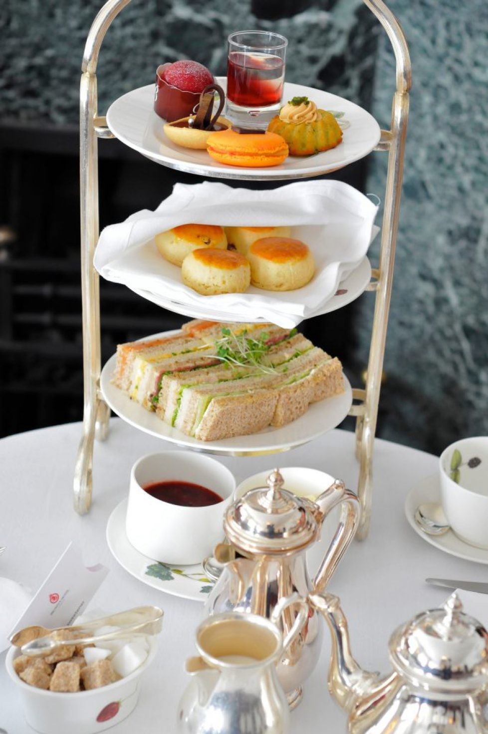 Traditional Afternoon Tea at Brown's Hotel, London, England, UK