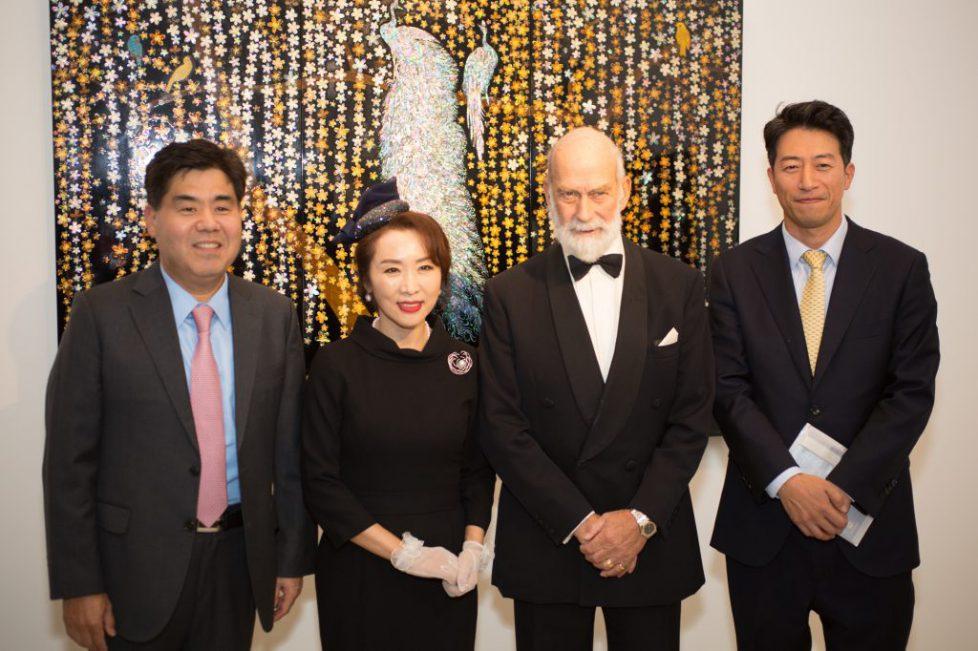 Korean sponsors, artist and HRH Prince Michael of Kent