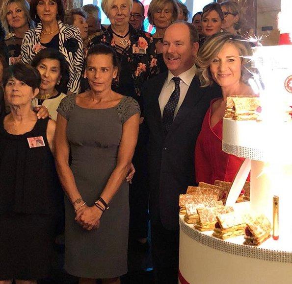 Albert et Stéphanie de Monaco aux 25 ans de l'association ...