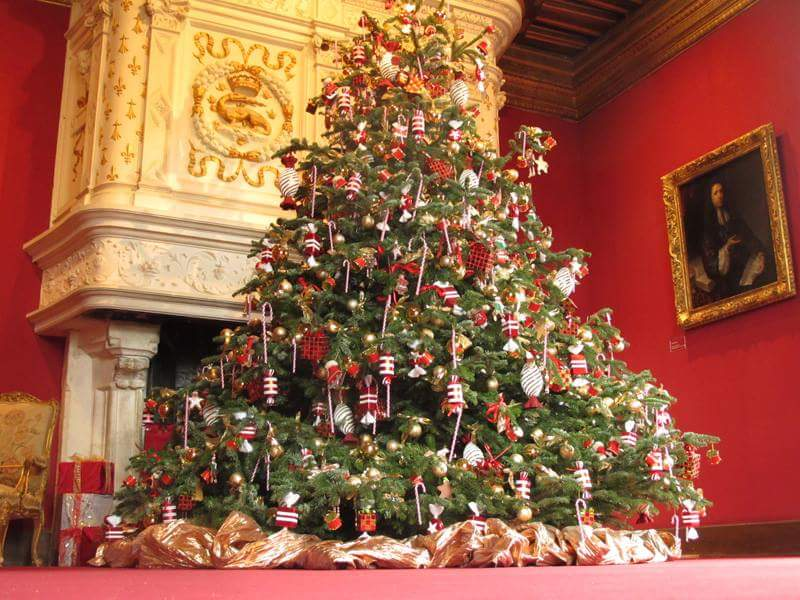 L 39 arriv e du sapin de no l en france noblesse royaut s for Decoration sapin de noel americain