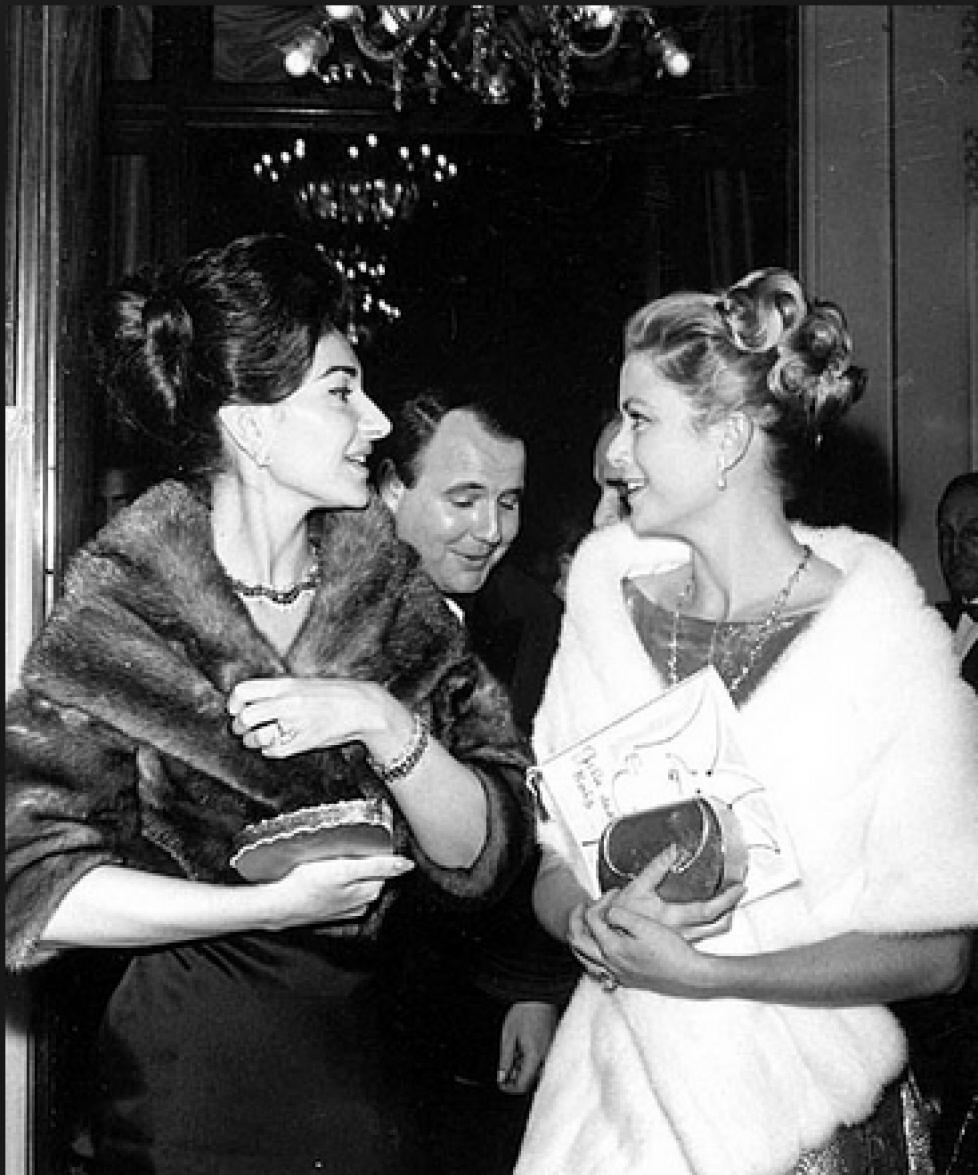 Maria Callas et la princesse de Monaco