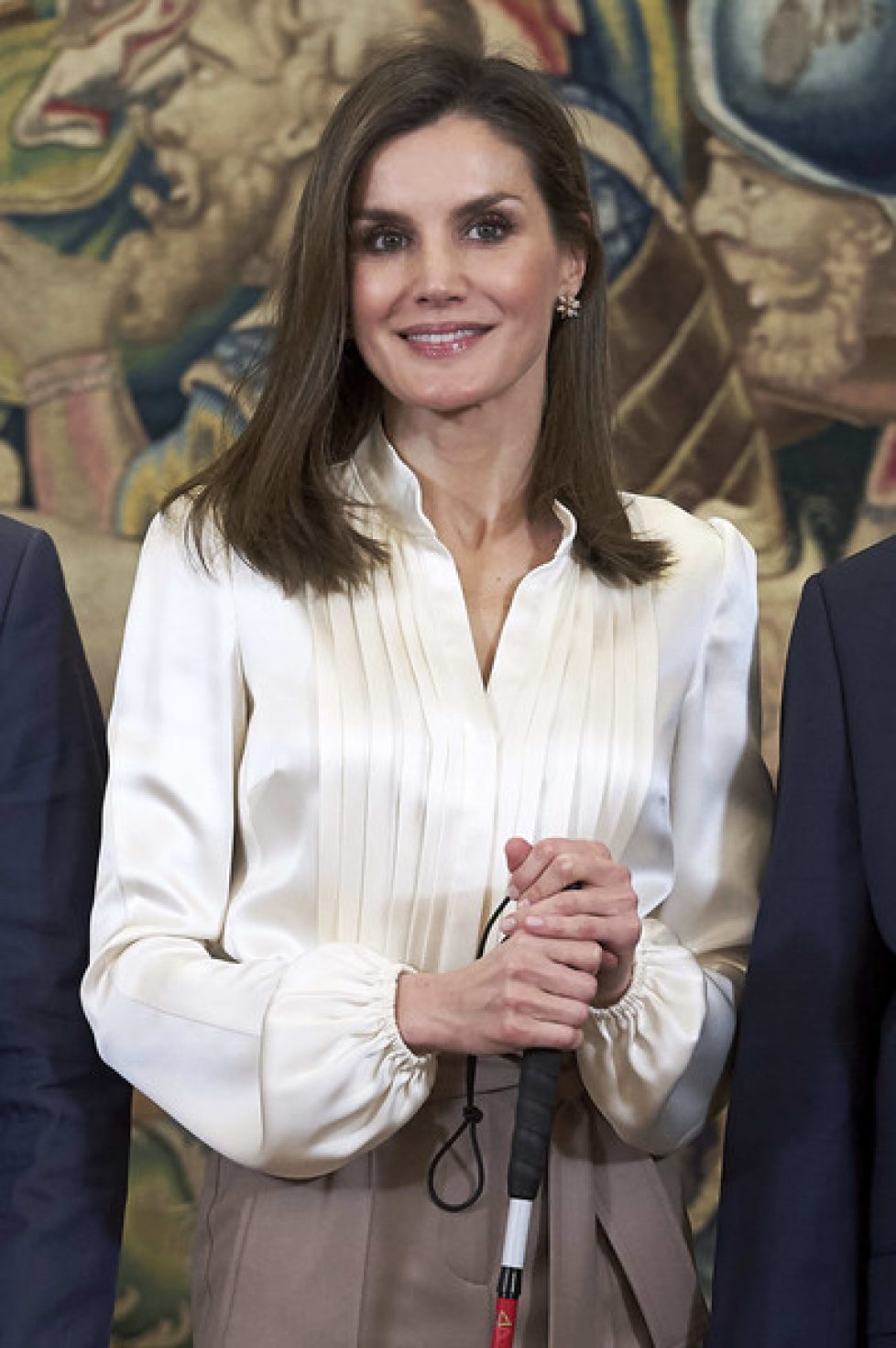 Queen+Letizia+Spain+Attend+Audiences+Zarzuela+dmmCFEXNzOal