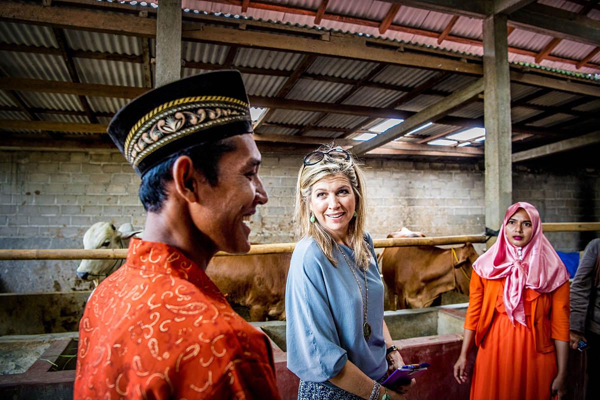 Koningin Maxima bezoekt Indonesie