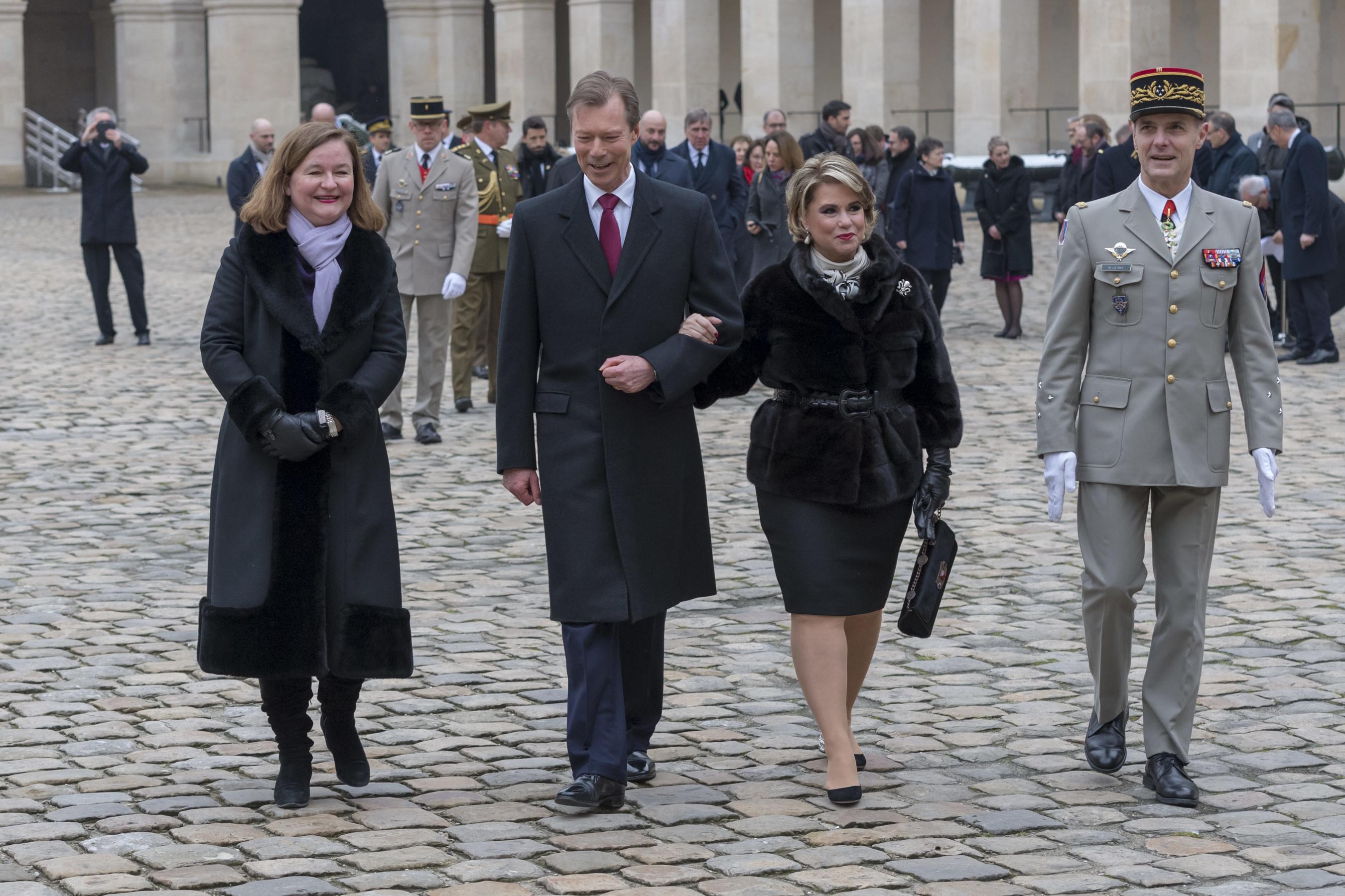 Visite d'État de LL.AA.RR. le Grand-Duc et la Grande-Duchesse en France - Journée du 19 mars 2018 - Cérémonie d'accueil aux Invalides