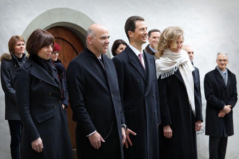 Besuch von Alain Berset, Bundespräsident der Schweizerischen E