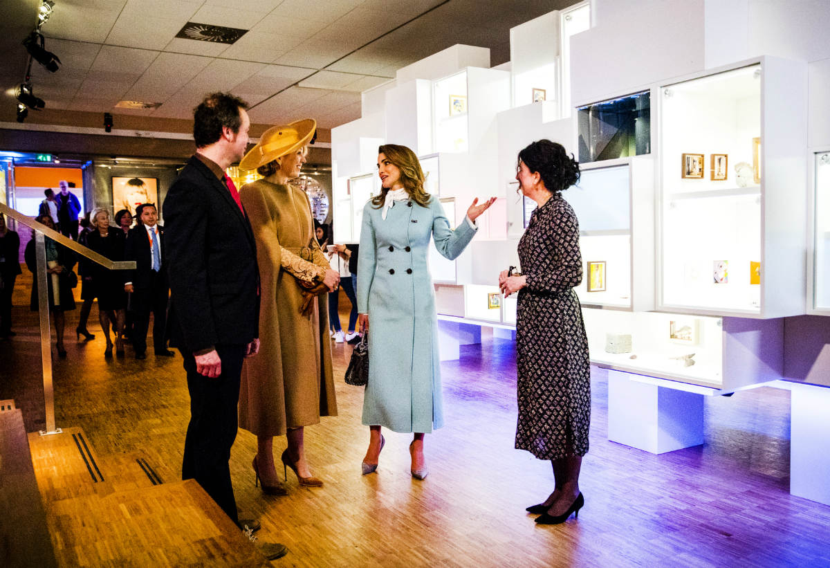 koningin-maxima-en-koningin-rania-gemeentemuseum