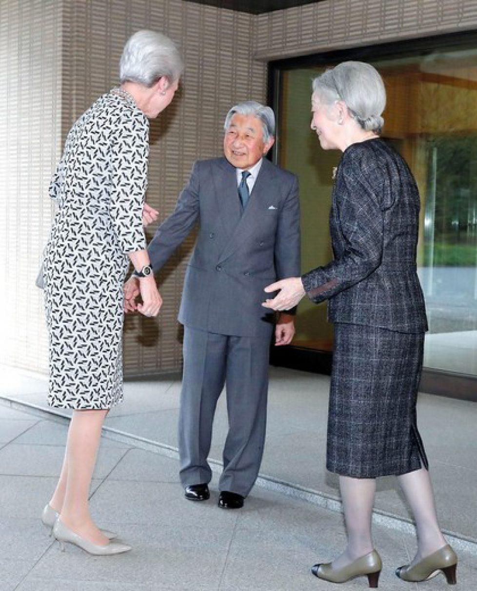 Japan Denmark Emperor Empress Princess Benedikte, Kejser Akihito, Kejserinde Michiko