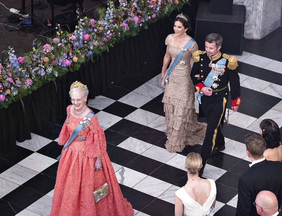 Kronprinsen 50 år: Gallataffel på Christiansborg Slot, Dronning Margrethe, Kronprins Frederik, Kronprinsen, Kronprinsesse Mary, Kronprinsparret