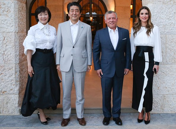 Dinner-Prime-Minister-of-Japan-and-Queen-Rania