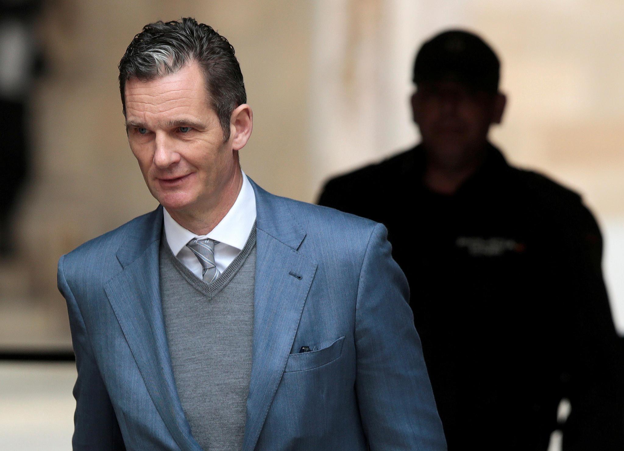 Inaki Urdangarin, husband of Spain's Princess Cristina, leaves court after a hearing in Palma de Mallorca