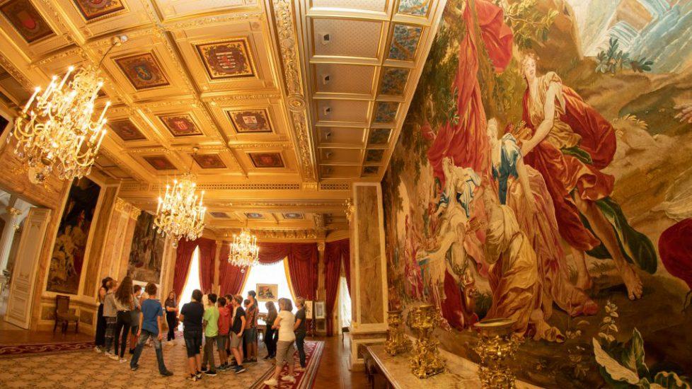335_visite_Cycle_4_Garnich_Palais_Grand_Ducal - Visite Cycle 4 Garnich Palais Grand-Ducal - Luxembourg - Ville - Palais Grand-Ducal - 12/07/2018 - photo: claude piscitelli