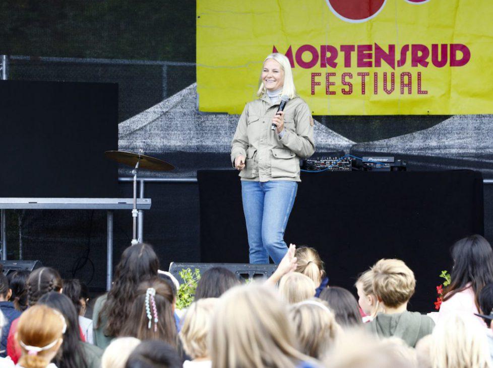 Kronprinsesse Mette-Marit åpner Mortensrud Festival