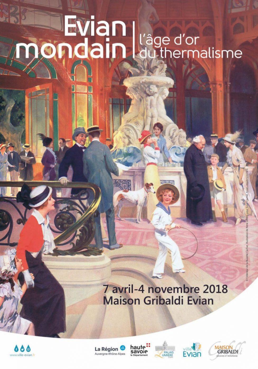 """Exposition """"Evian mondain. L'âge d'or du thermalisme"""""""