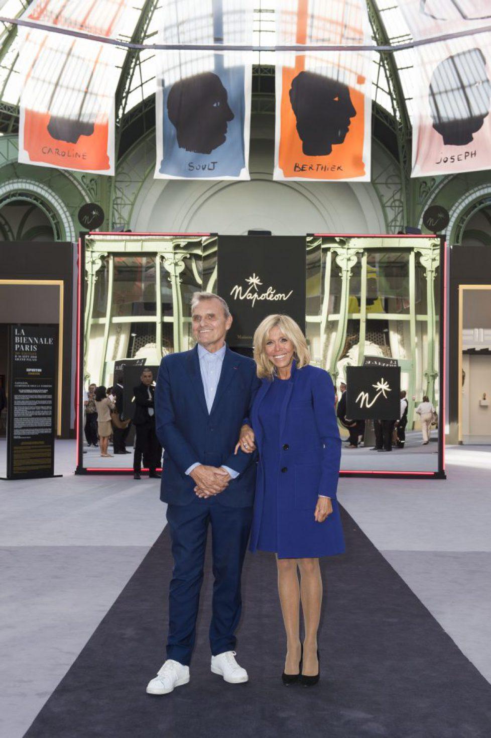 visite de Madame Macron Biennale de Paris le 10 septembre 2018© julio Piatti