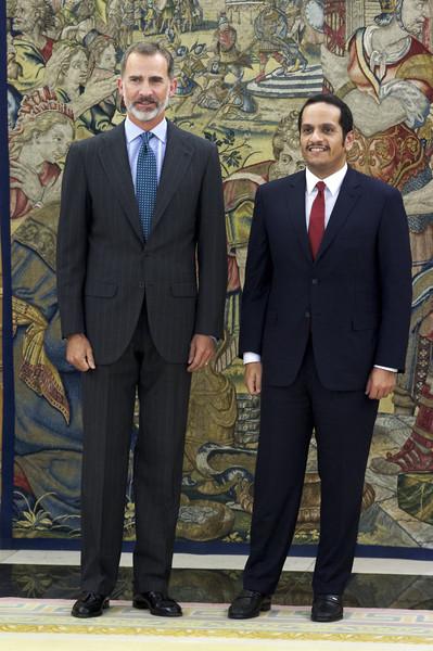 King+Felipe+Spain+Meets+Foreign+Minister+Qatar+RYmKmI3r7_4l